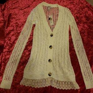 NEW NWT Arizona Jean Company Cream Colored Sweater